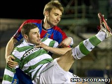The game between Inverness and Celtic has been called off due to a waterlogged pitch