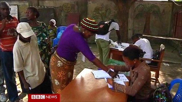 Nigerian polling station