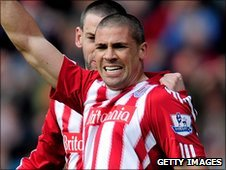 Stoke City striker Jon Walters