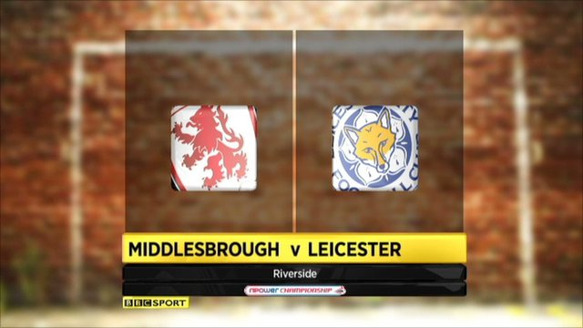Middlesborough v Leicester highlights