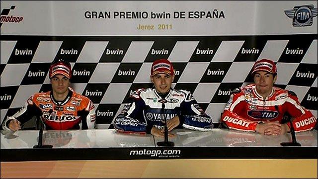 Dani Pedrosa, Jorge Lorenzo and Nicky Hayden