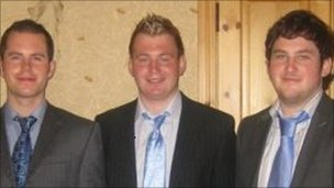 PSNI Constable Ronan Kerr and his brothers