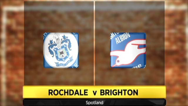 Highlights - Rochdale 2-2 Brighton