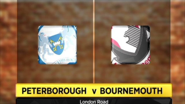 Peterborough 3-3 Bournemouth