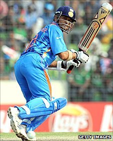 Sachin Tendulkar in action