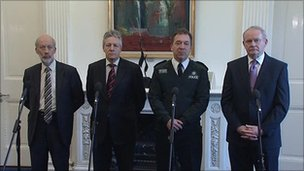 David Ford, Peter Robinson, Matt Baggott, Martin McGuinness