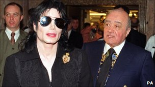 Michael Jackson with Mohammed Al Fayed