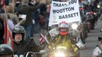 Ride Of Respect through Wootton Bassett