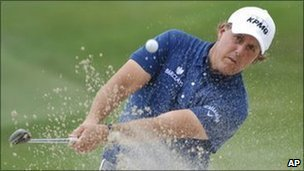 Phil Mickelson during the final round of the Houston Open PGA Tour golf tournament