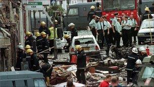 1998 Omagh bomb scene