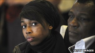 Air crash survivor Bahia Bakari and her father Kassim Bakari