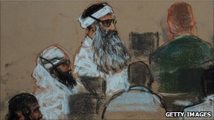 Court sketch of Khalid Sheikh Mohammed