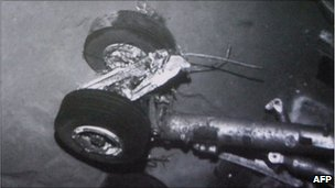 Undersea image released by France's Bureau of Investigation and Analysis of the crashed engine of the Airbus A330