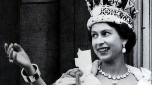 Queen Elizabeth on Coronation Day, 1953