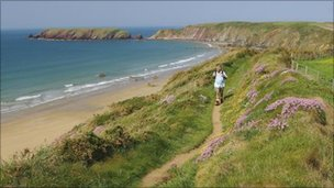 The Pembrokeshire coastal path at Marloes