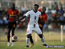 Kenya's Victor Mugabe in action against Angola in 2011