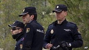 Spanish police - file pic