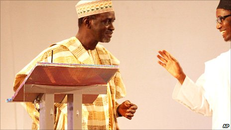 Ibrahim Shekarau taking part in a presidential debate in March 2011