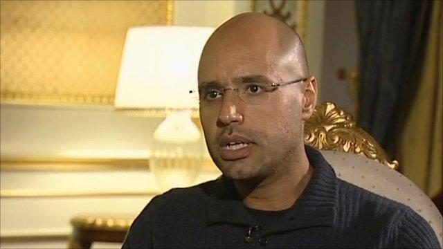Col Gaddafi's son, Saif