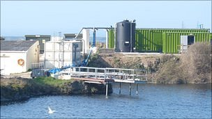 Alderney water treatment plant in Battery Quarry