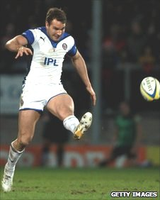 Olly Barkley in action for Bath