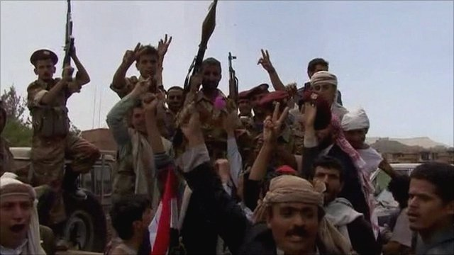 Anti-Saleh protesters