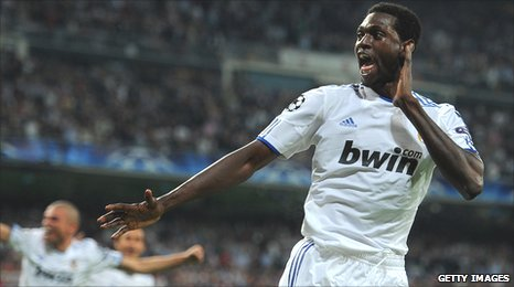 Real Madrid's Togolese striker Emmanuel Adebayor