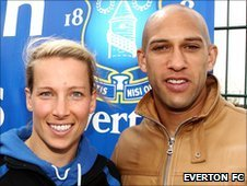 Rachel Brown and Tim Howard