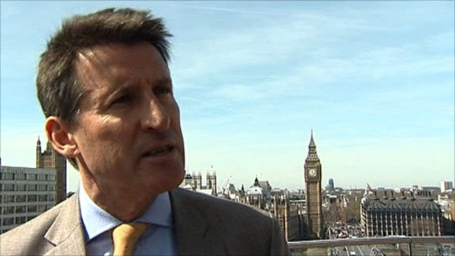 London 2012 organising committee chairman Lord Coe