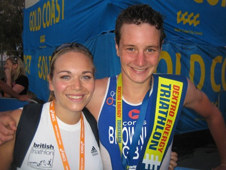 Emma Deakin with Alistair Brownlee