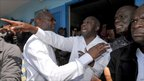 Laurent Gbagbo, during voting in Abidjan in October last year.