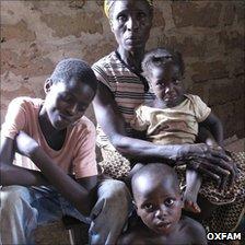 Collette Gowlai Danzahoun and her children