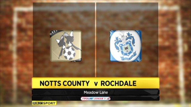 Notts County 1-2 Rochdale