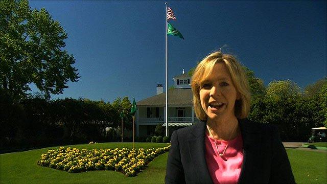 BBC Sport's Hazel Irvine at Augusta