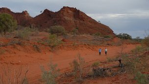 Desert near Alice Springs, Australia (archive image)