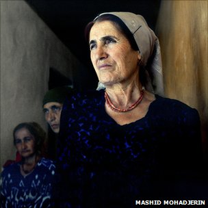 A portrait by Mashid Mohadjerin. Part of a series on families of migrant workers left behind in Tajikistan