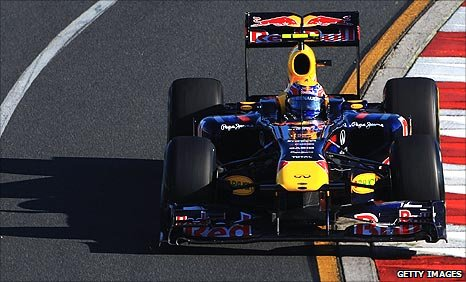 Mark Webber in his Red Bull at the Australian Grand Prix