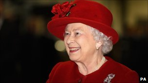 Queen Elizabeth II smiles