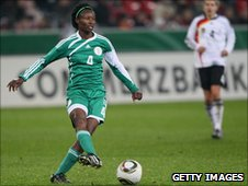 Perpetua Nkwocha in action for Nigeria