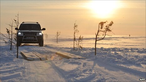 The ice road to Hiumaa