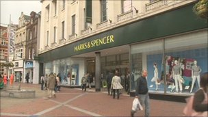 Marks & Spencer in Broad Street, Reading
