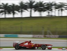 Fernando Alonso's Ferrari at Sepang