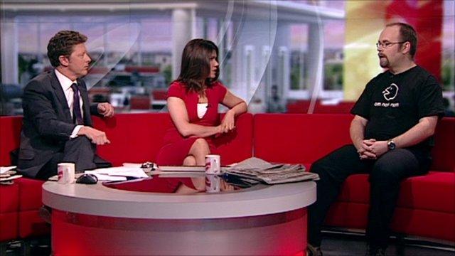 Paul Mutton in the BBC Breakfast studio