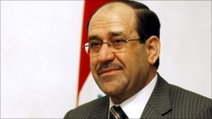 Iraqi Prime Minister Nouri al-Maliki at his compound in Baghdad, Iraq, 7 April 2011