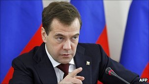 Russian President Dmitry Medvedev, 6 Apr 11