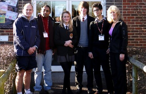 A teacher and pupil from The Doon School visit The Thomas Hardye School