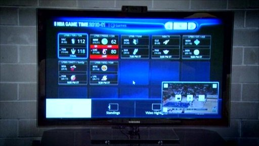 Interactive TV screen