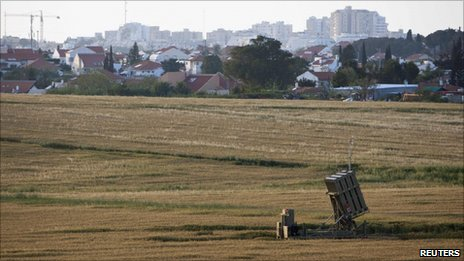 An Iron Dome battery outside Ashkelon (7 April 2011)