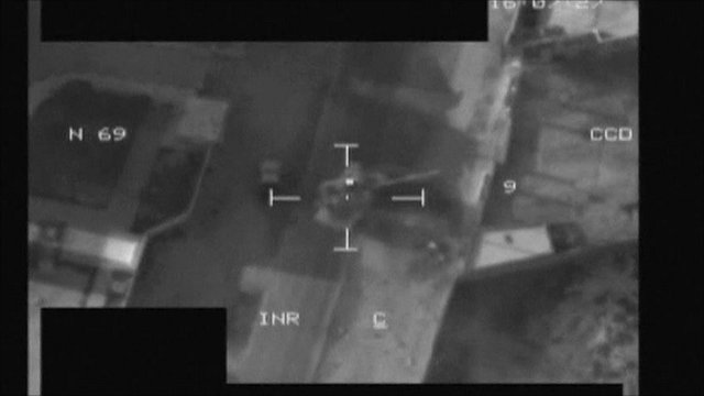 RAF image of Libyan vehicles on move