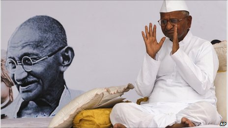Anna Hazare - Friday 8 April 2011